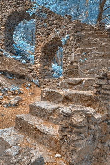 Forest Castle Ruins - Nuclear Winter HDR