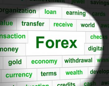 Forex Currency Indicates Exchange Rate And Foreign