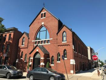 Former Canton Methodist Episcopal Church (1883–1884; Charles L. Carson, architect), 1000 S. Ellwood Avenue, Baltimore, MD 21224