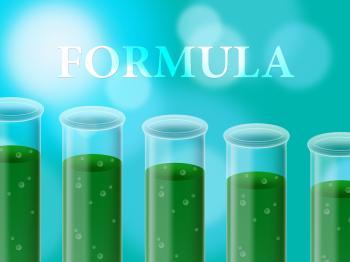 Formula Experiment Represents Formulas Studies And Test
