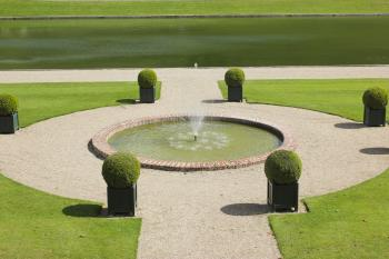 Fountain at Chateau Villandry