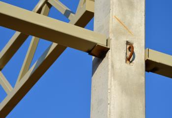 Fragment of steel structure