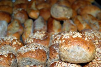 Fresh bread buns