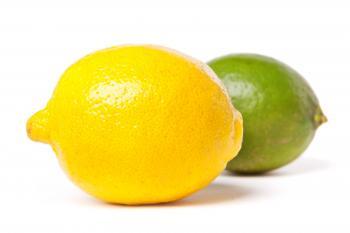 Fresh lime and lemon