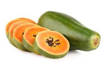 Fresh papaya fruit