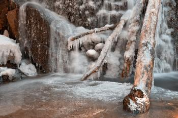 Frozen Avalon Falls - HDR