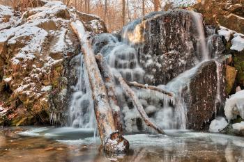 Frozen Cascade Falls - HDR