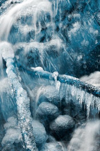 Frozen Harp Falls - Winter Blues