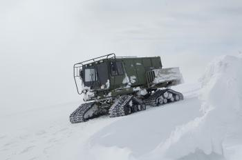 Frozen Snowmobile
