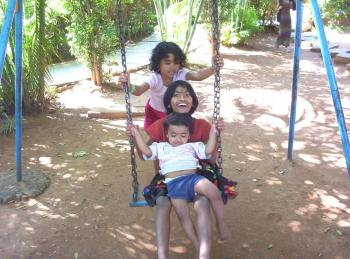 Fun in the swing