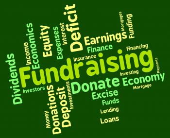 Fundraising Word Shows Capital Wordcloud And Funds