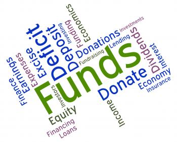 Funds Word Represents Shares Text And Financial