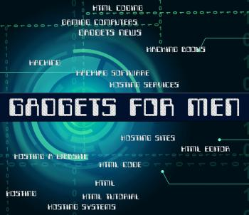 Gadgets For Men Represents Mod Con And Gismo