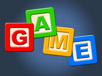 Game Kids Blocks Shows Gamer Leisure And Children