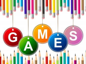Games Play Indicates Leisure Gaming And Entertainment