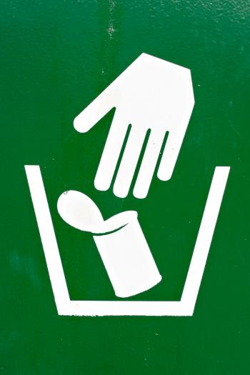 Garbage Disposal Sign
