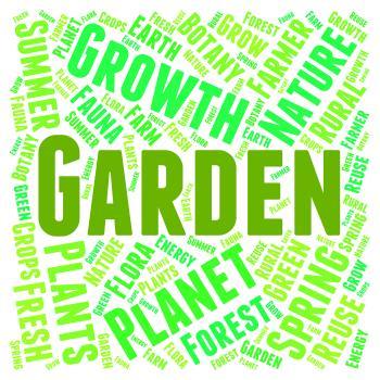 Garden Word Means Gardens Lawns And Gardening