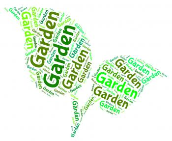 Garden Word Represents Words Outside And Lawns