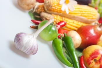 Garlic and vegetables