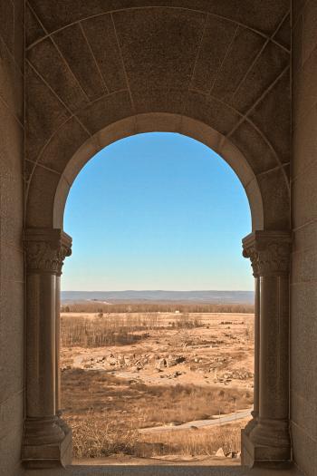 Gateway to Gettysburg - Sepia Nostalgia HDR