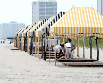 Gazebos At The Beach