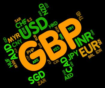Gbp Currency Indicates Great British Pound And Currencies