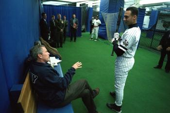 George Bush with Player