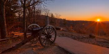 Gettysburg Sunset Cannon - HDR