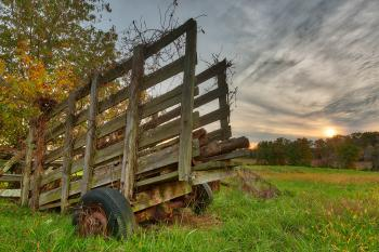 Gettysburg Sunset Decay - HDR