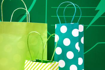 gift bags green
