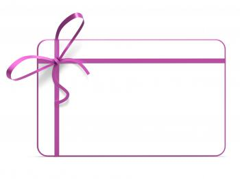 Gift Tag Represents Blank Space And Copy-Space