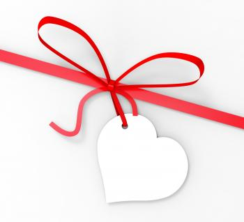 Gift Tag Shows Greeting Card And Blank