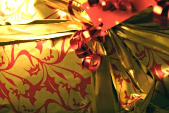 Gift wrap close up
