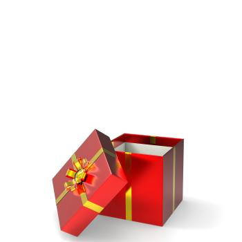 Giftbox Copyspace Represents Wrapped Greeting And Gifts