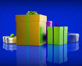 Giftbox Giftboxes Represents Celebrations Celebrate And Party