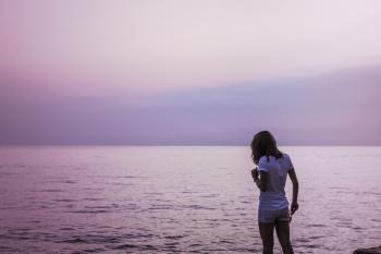 Girl by the ocean