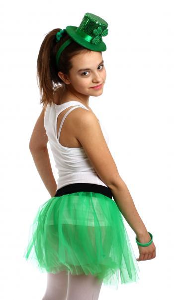 Girl dressed for Saint Patrick's Day
