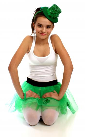 Girl dressed for Saint Patrick's Day