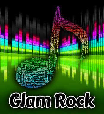 Glam Rock Indicates Sound Track And Harmonies