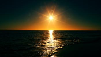 Glare on the beach
