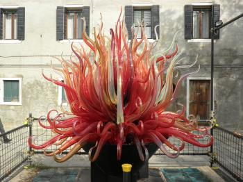 Glass statue on the Murano island, Italy
