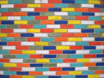 Glazed Color Brick Wall