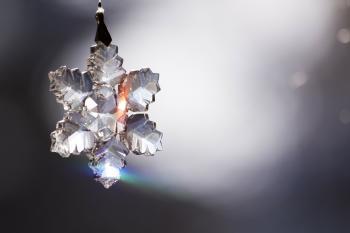 Glittering Snowflake Ornament