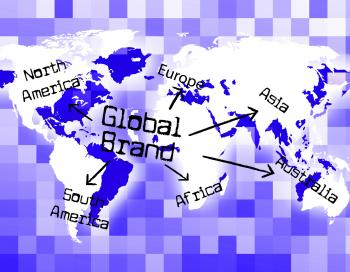 Global Brand Means Company Identity And Branded