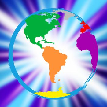 Global Globe Represents Vibrant Planet And Globalisation