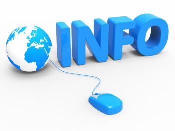 Global Info Indicates World Wide Web And Website