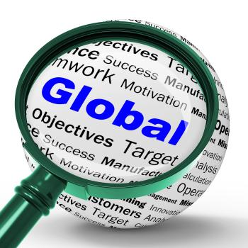 Global Magnifier Definition Means International Communications Or Worl