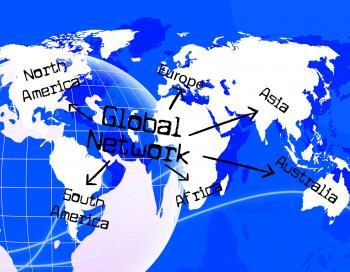 Global Network Indicates Www Communication And Communicate
