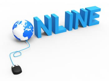Global Online Means World Wide Web And Net