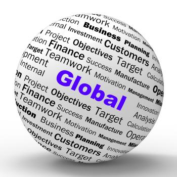 Global Sphere Definition Means International Communications Or Worldwi